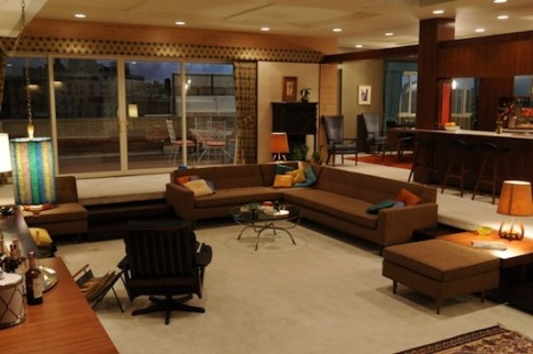 Draper apartment on Mad Men