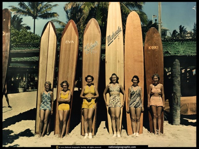 waikiki surf boards vintage