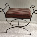 Wrought iron vanity seat