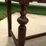 Antique oak foyer table