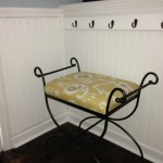 Wrought Iron Vanity Bench - Ikat