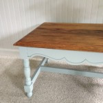 Oak coffee table - painted legs