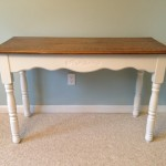 Oak top foyer table