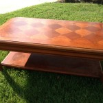 coffee table with inlaid top