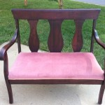 Mahogany foyer bench
