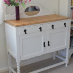White foyer cabinet
