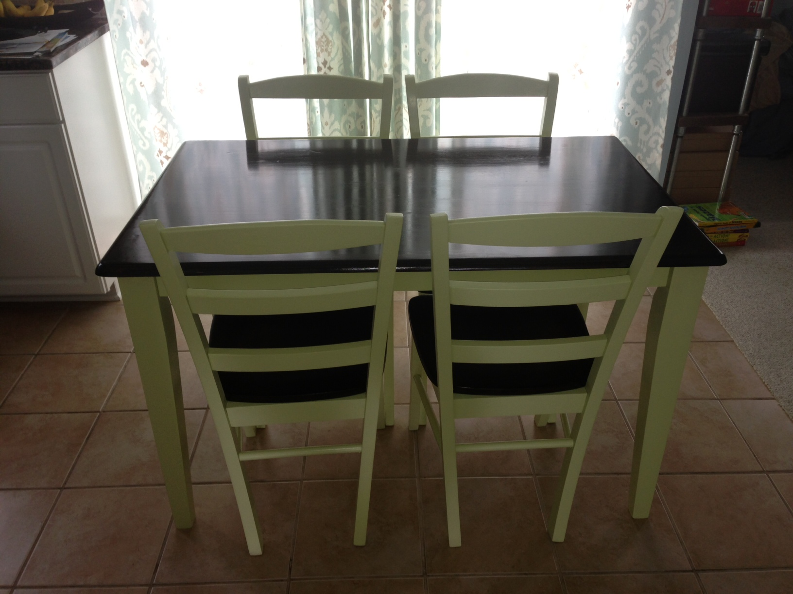 Butcher Block Table & 4 Chairs - Fresh Vintage NC