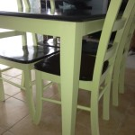 Butcher block table & 4 chairs