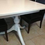Distressed Duncan Phyfe table