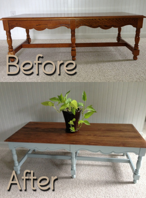 BeforeAfter-OakCoffeeTable