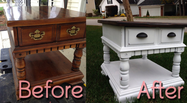 BeforeAfter-OakEndTable
