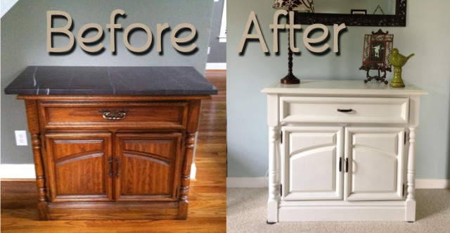 BeforeAfter-OakEntryTable