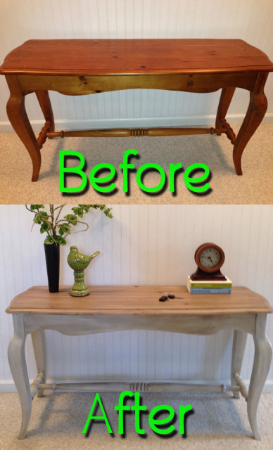 BeforeAfter-PineSofaTable