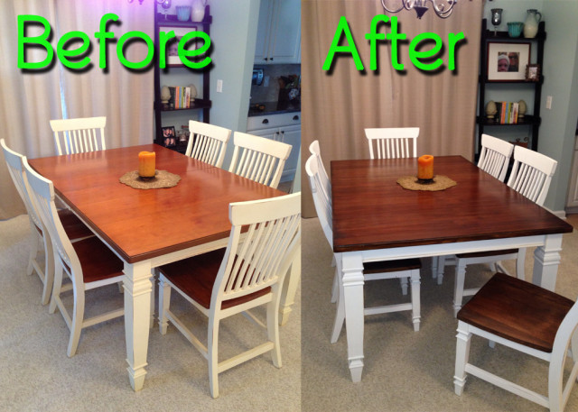 BeforeAfter-WalnutDiningSet
