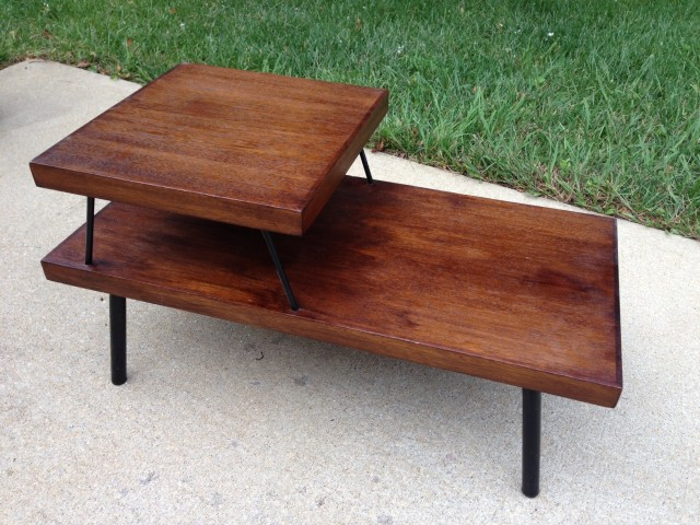 Danish modern style bi-level bed table