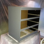 Ikea Malm nightstand sprayed gray