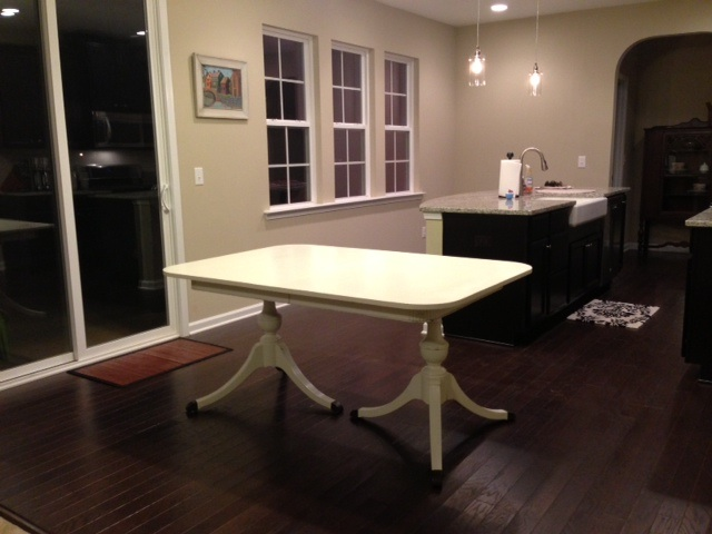 Duncan Phyfe table, in its new home