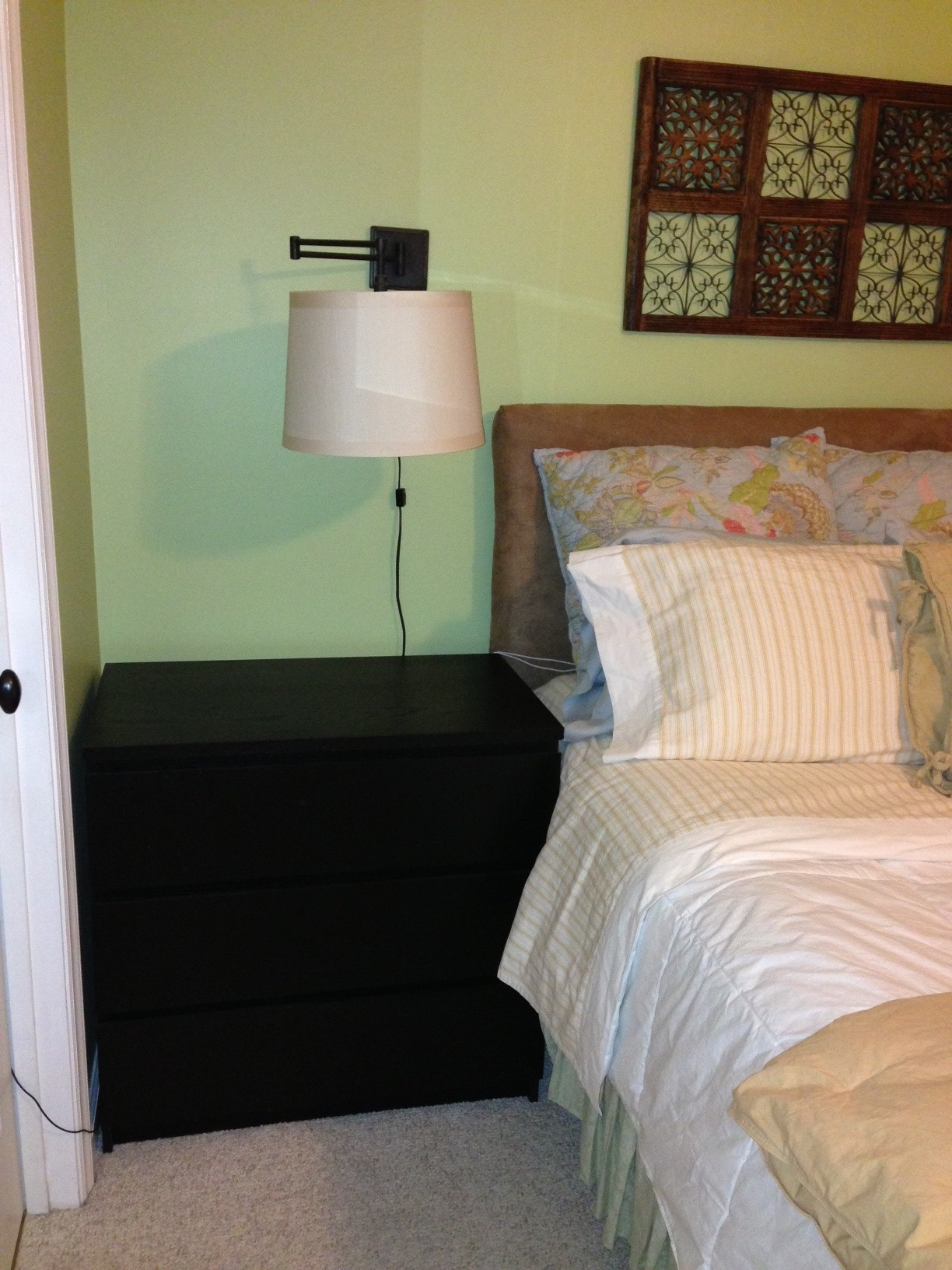 Malm end table fabulous black brown malm nightstand for inspiring bedroom furniture ideas with - Malm bed with nightstands ...