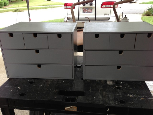 Ikea Moppe drawers with basecoat