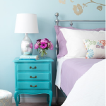 Aqua blue nightstand