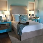Bright blue nightstands