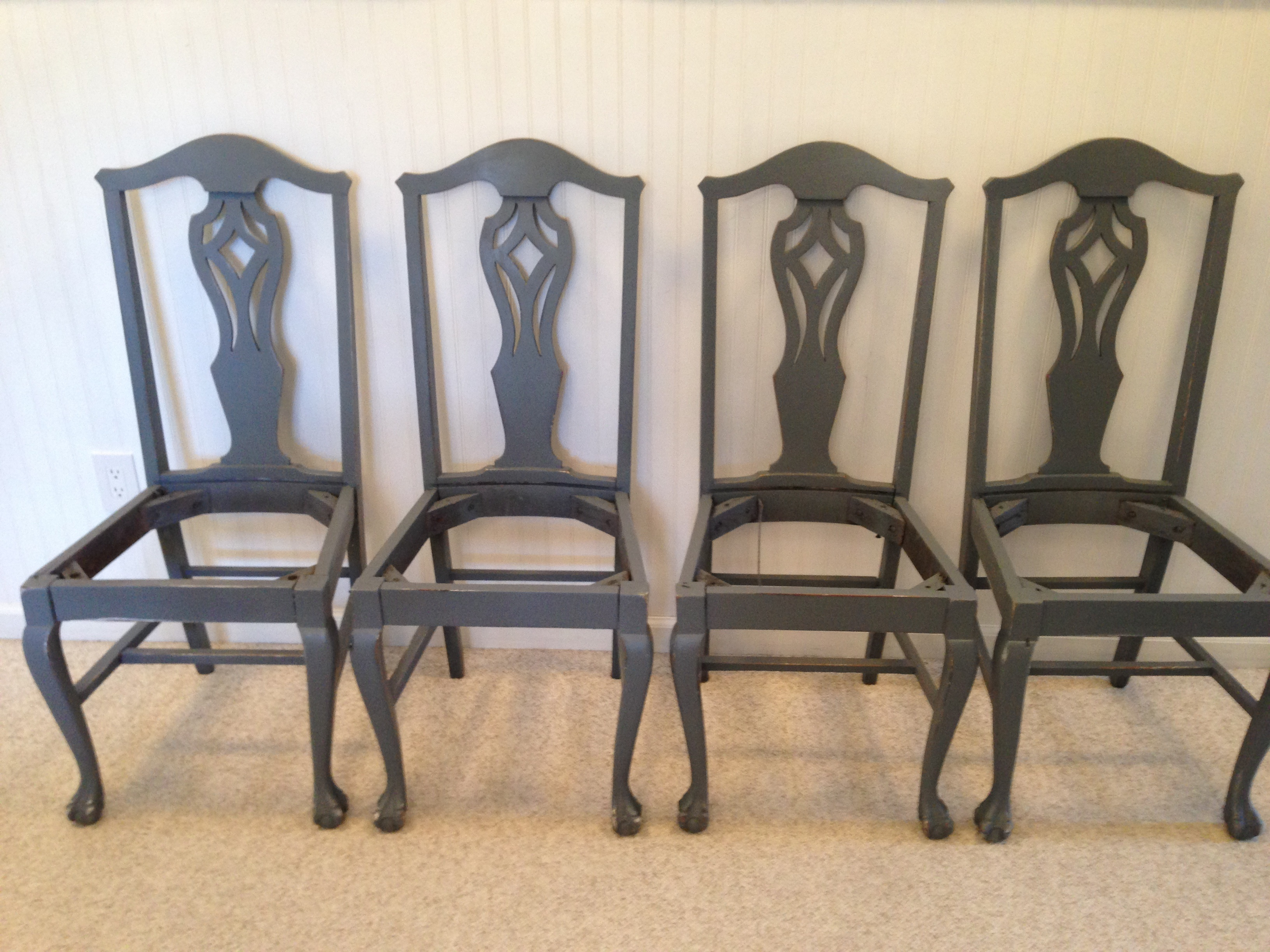 Chippendale ish chairs circa 1919 Fresh Vintage NC