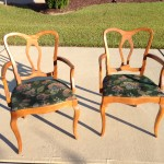 Rock maple captain's chairs 01