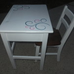 Vintage kids desk & chair 16