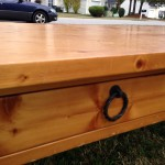 World Market pine coffee table 03