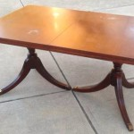 Duncan Phyfe table with leaf 02