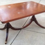 Duncan Phyfe table with leaf 01
