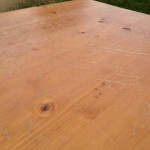 World Market pine coffee table 07