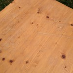 World Market pine coffee table 06