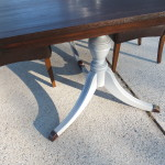 Duncan Phyfe table with leaf 17