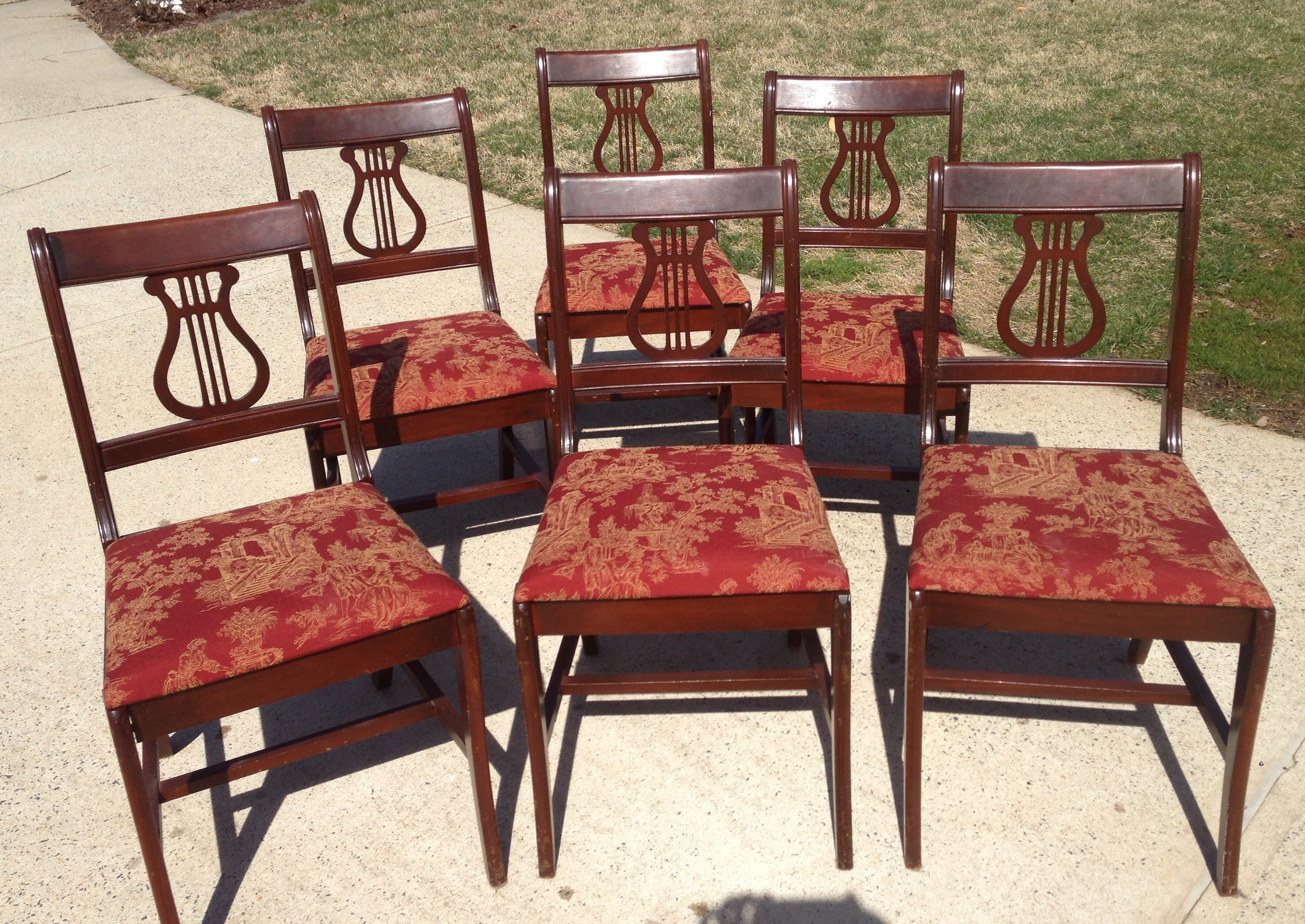 Antique duncan phyfe chairs - 6 Duncan Phyfe Chairs 02