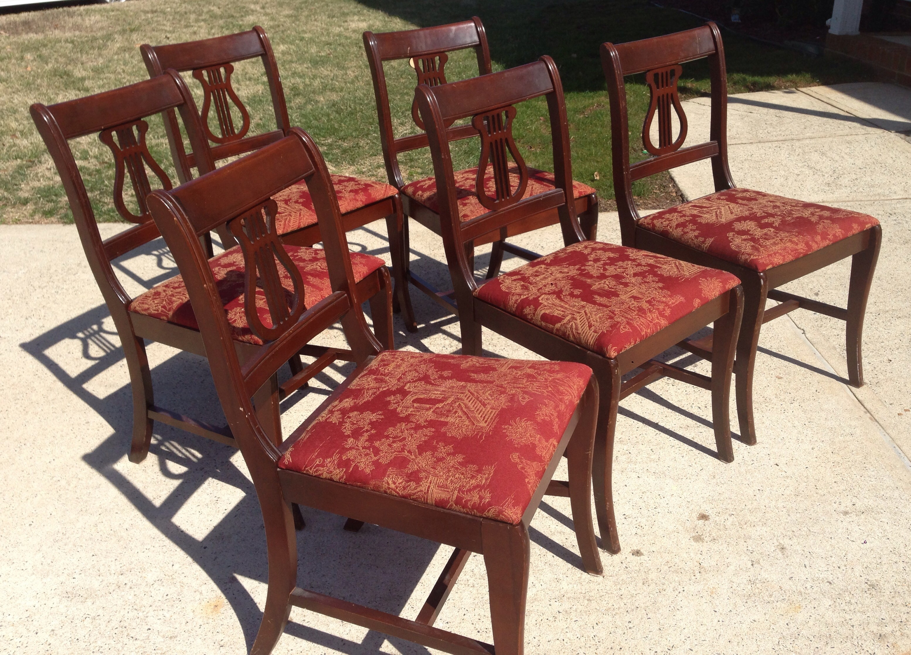 6 Duncan Phyfe style chairs Fresh Vintage NC