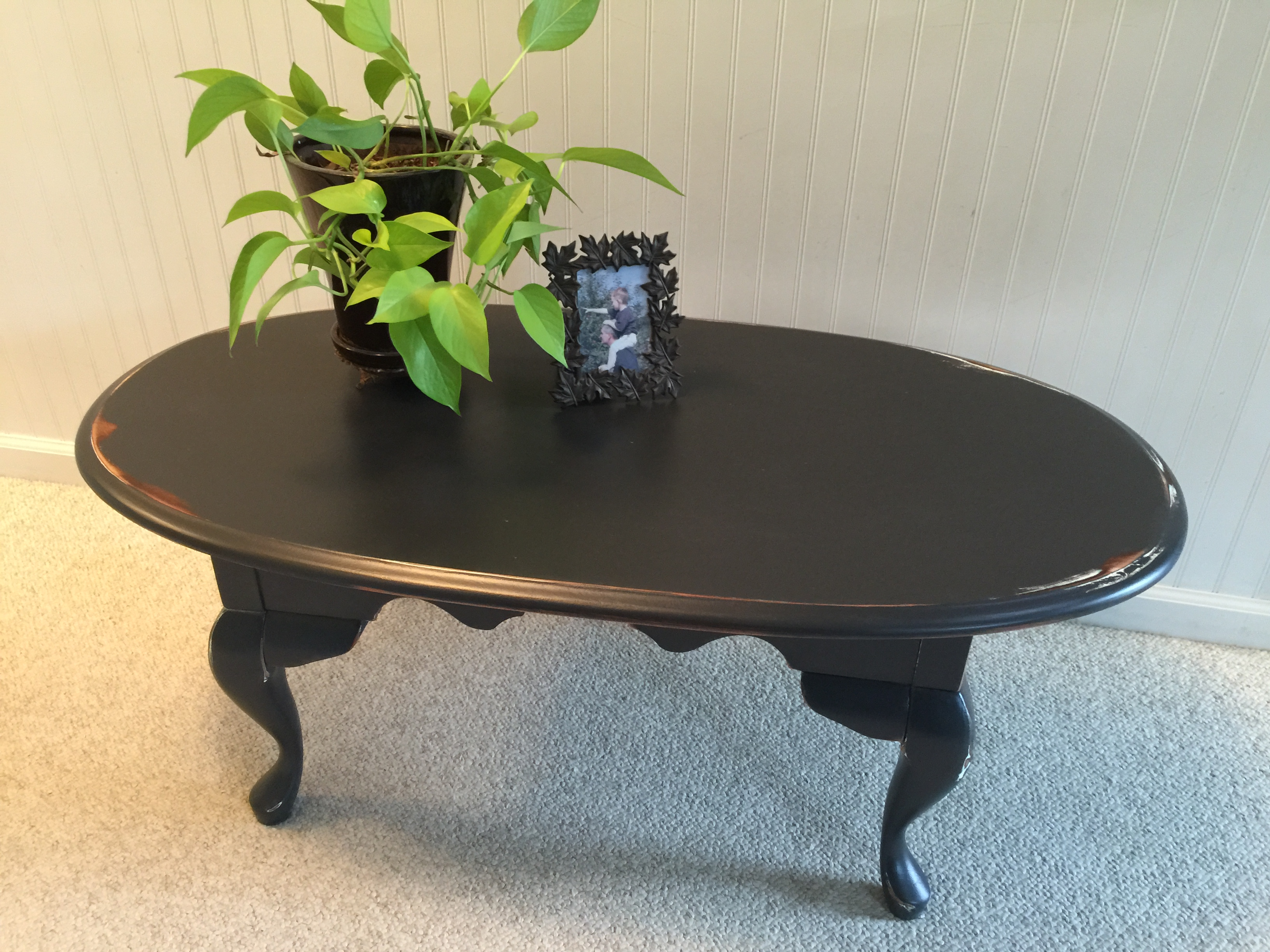 This Table Was Brought To Me By A Customer Who Wanted To Update It From  Cream, To Black. The Finish Was Extremely Rough And You Could See Lots Of  Brush ...
