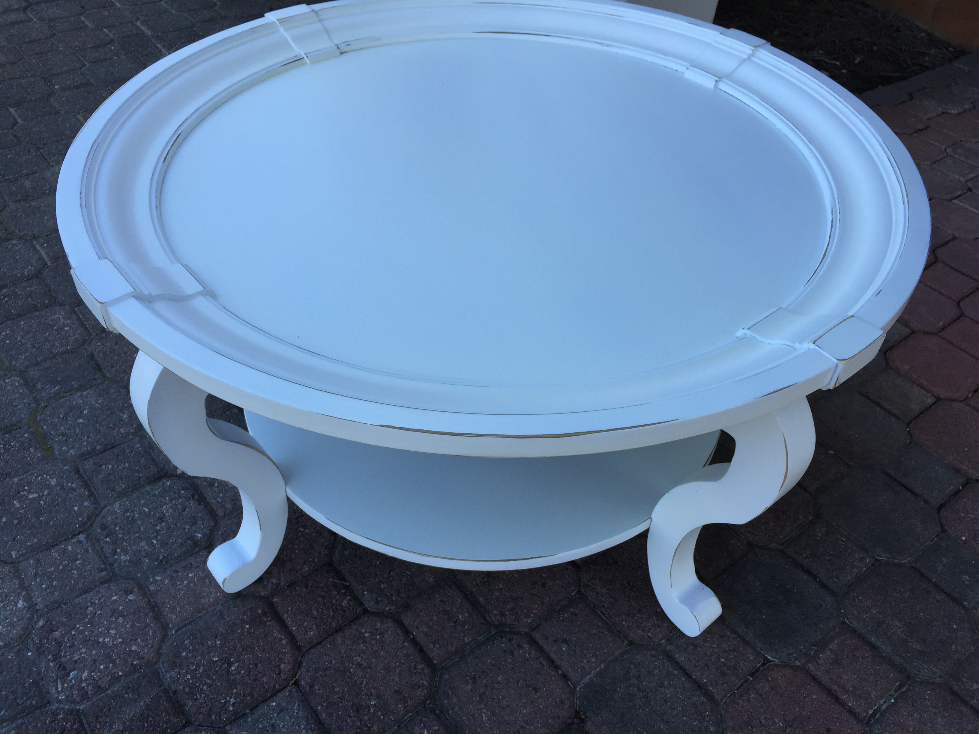 Round Pottery Barn Coffee Table - Fresh Vintage NC