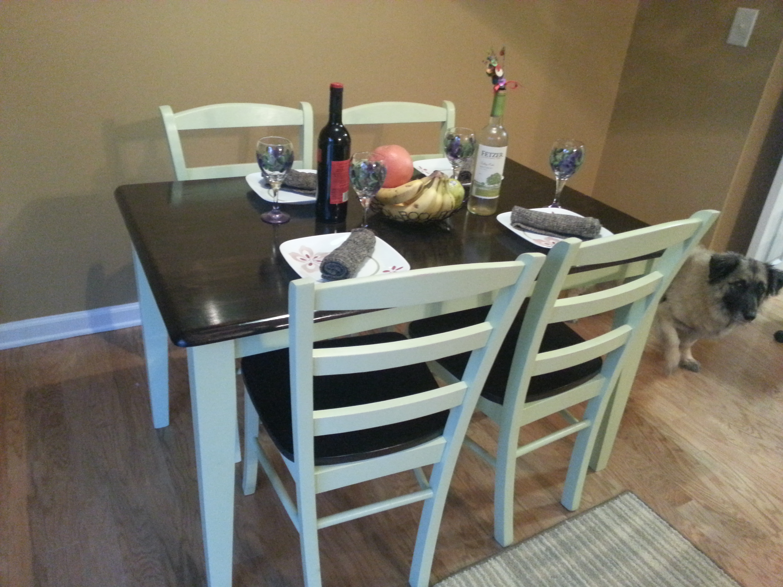 Butcher Block Table 4 Chairs Fresh