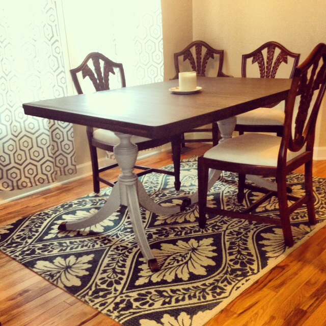 Duncan Phyfe Dining Room Set: Duncan Phyfe Table With Leaf