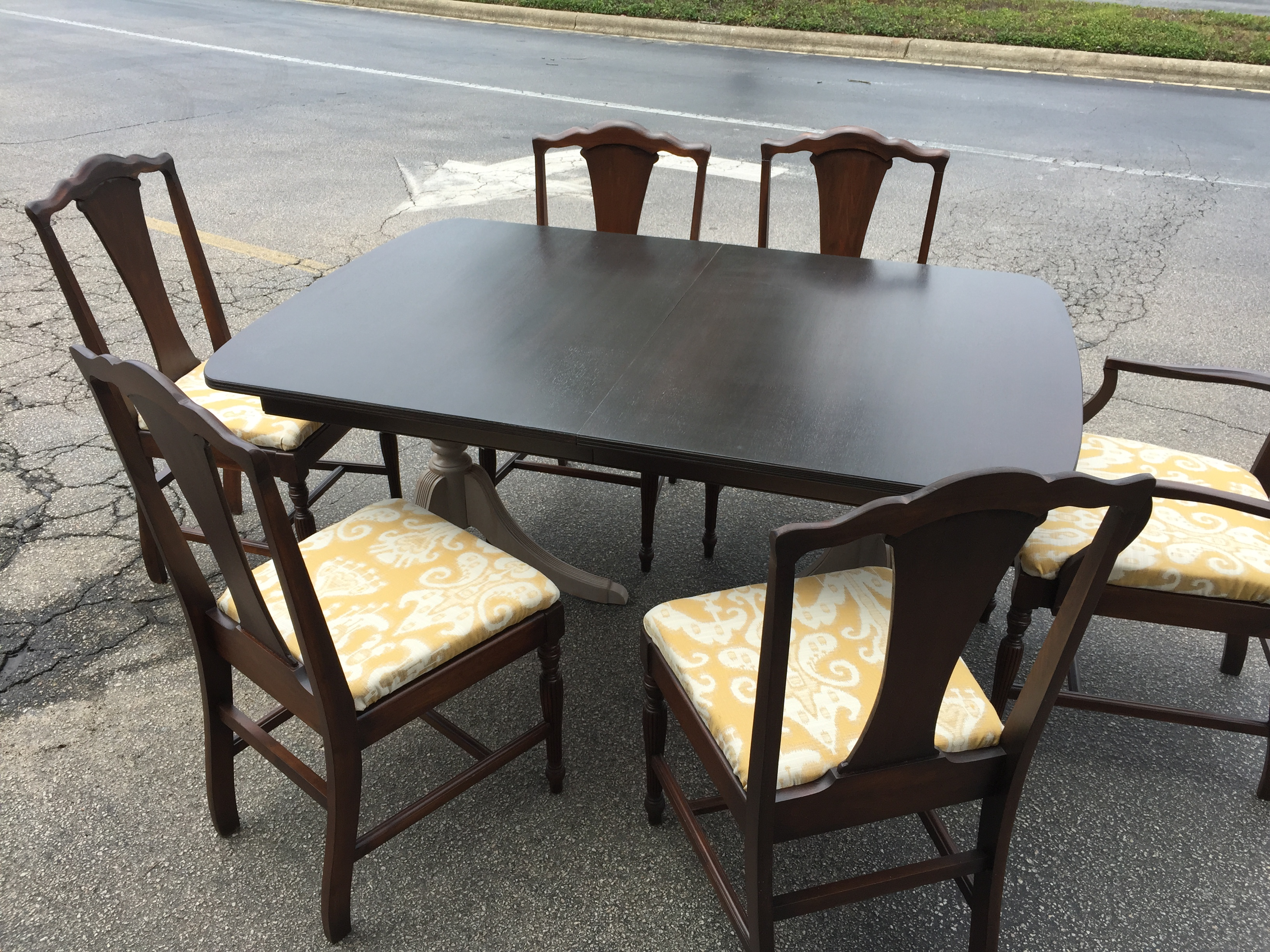 This Item Has Been Sold Img 8575 Vintage Duncan Phyfe Style Mahogany Pedestal Table